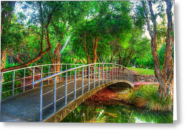 View Pyrography Greeting Cards - The bridge  Greeting Card by Imagevixen Photography
