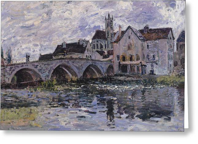 The Church Greeting Cards - The Bridge of Moret sur Loing Greeting Card by Claude Monet
