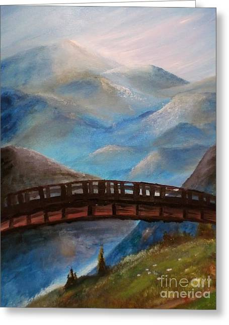 Trilby Cole Greeting Cards - The Bridge Greeting Card by Trilby Cole