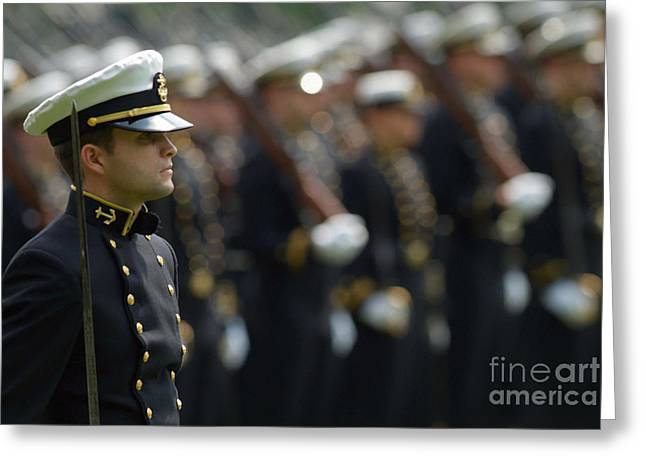 Brigade Greeting Cards - The Brigade Of Midshipmen Stand Greeting Card by Stocktrek Images