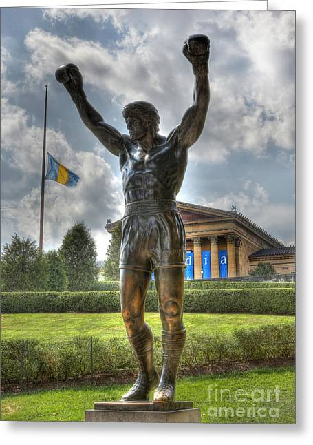 Town Of Franklin Greeting Cards - The Bronze Stallion - Rocky Balboa - Philadelphia - Pennsylvania - Rocky Steps Greeting Card by Lee Dos Santos