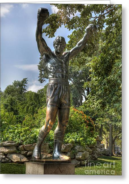 Town Of Franklin Greeting Cards - The Bronze Stallion II - Rocky Balboa - Philadelphia - Pennsylvania - Rocky Steps Greeting Card by Lee Dos Santos