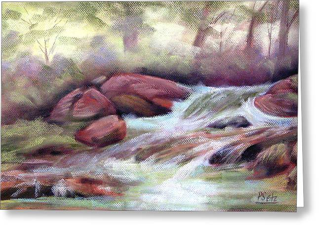 Brook Pastels Greeting Cards - The Brook Greeting Card by Patricia Seitz