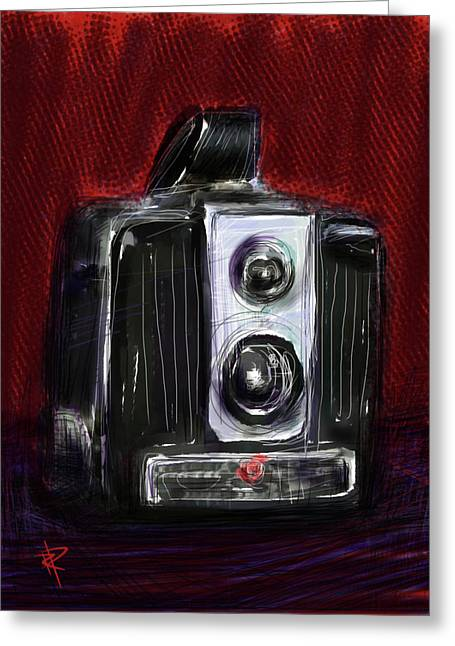 Old Camera Mixed Media Greeting Cards - The Brownie Greeting Card by Russell Pierce