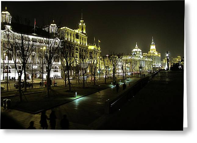 Waitan Greeting Cards - The Bund - Shanghais famous waterfront Greeting Card by Christine Till