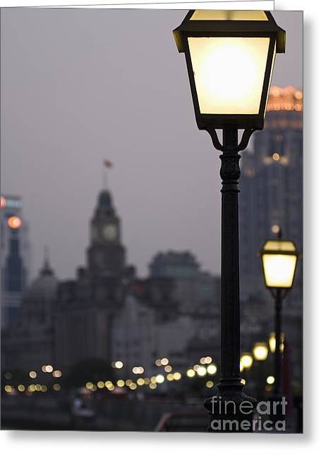 Bund Greeting Cards - The Bund Greeting Card by Sam Bloomberg-rissman