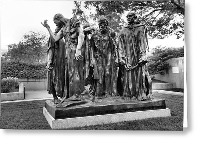 Sculpture Photographs Greeting Cards - The Burghers of Calais Greeting Card by Steven Ainsworth