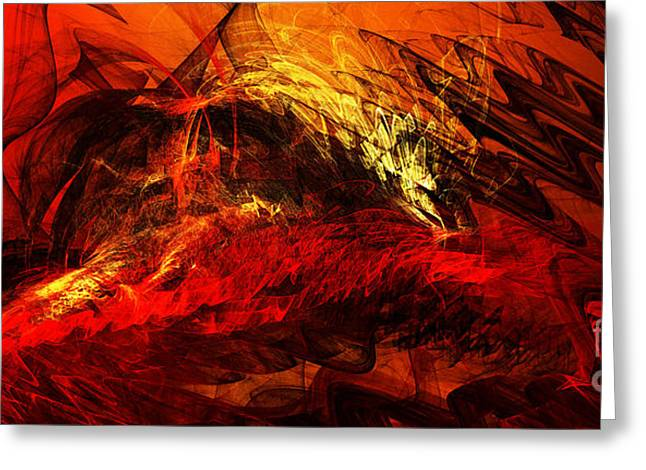 Swirls Of Energy Greeting Cards - The Burning Of Atlanta Greeting Card by Andee Design