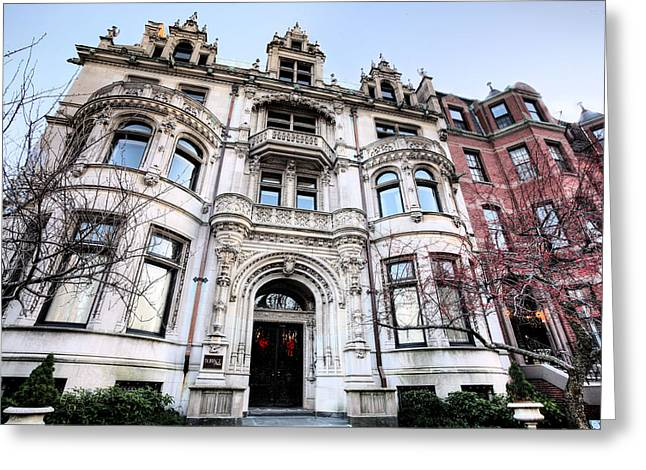 Boston Ma Greeting Cards - The Burrage House Greeting Card by JC Findley