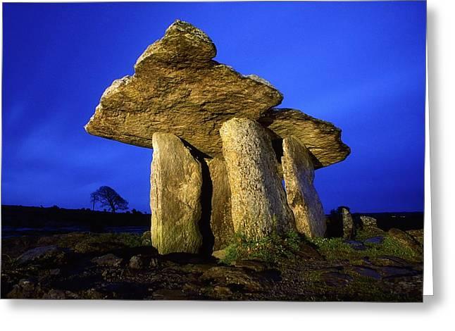 Dolmen Greeting Cards - The Burren, County Clare, Ireland Greeting Card by Richard Cummins