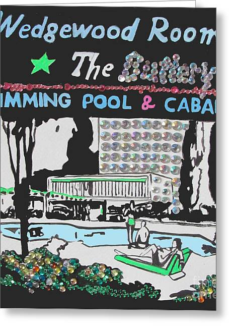 Sunbathing Mixed Media Greeting Cards - The Butlery Greeting Card by Beth Saffer