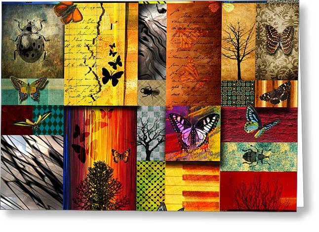 Texture Greeting Cards - The Butterfly effect Greeting Card by Ramneek Narang