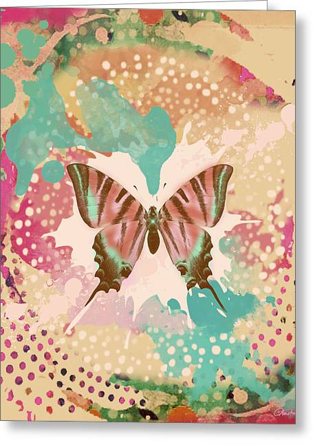 Bryant Greeting Cards - The Butterfly Experiment Greeting Card by Christine Louise Bryant