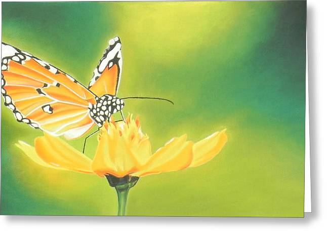 Butterflies Pastels Greeting Cards - The Butterfly Greeting Card by Paul Miners