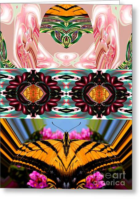 Reverence Digital Art Greeting Cards - The Butterfly Skull Greeting Card by Rick Wolfryd