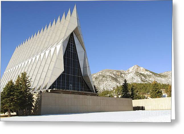 Cadet Greeting Cards - The Cadet Chapel At The U.s. Air Force Greeting Card by Stocktrek Images