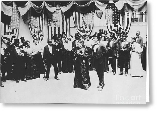 African American History Greeting Cards - The Cakewalk Greeting Card by Photo Researchers
