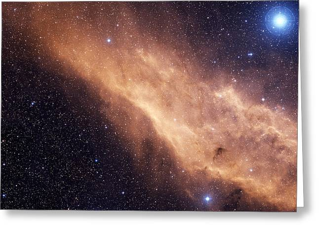 Interstellar Space Greeting Cards - The California Nebula Greeting Card by Charles Shahar