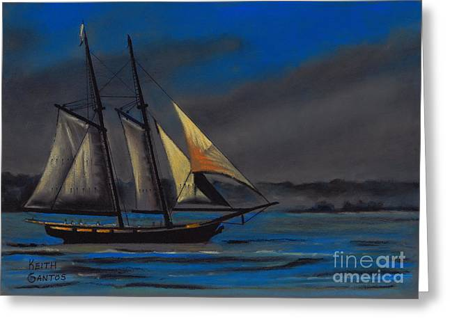 Ship Pastels Greeting Cards - The Californian Greeting Card by Keith Gantos