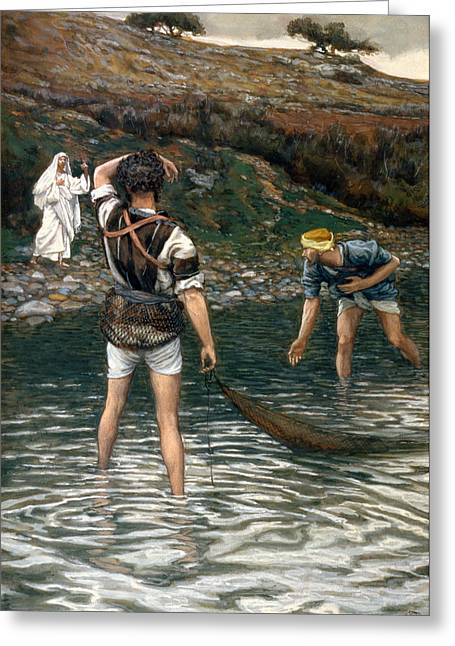 The Followers Greeting Cards - The Calling of Saint Peter and Saint Andrew Greeting Card by Tissot