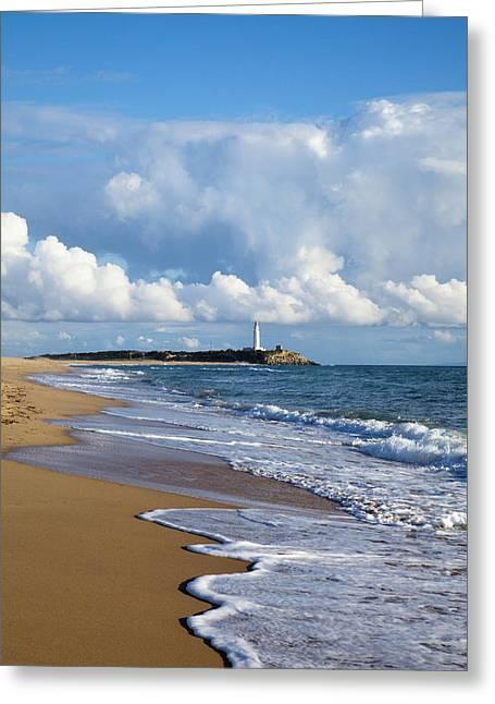 Trafalgar Greeting Cards - The Capo De Trafalgar Andalucia Spain Greeting Card by Peter Zoeller