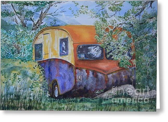 Garden Greeting Cards - The Caravan Greeting Card by Phong Trinh