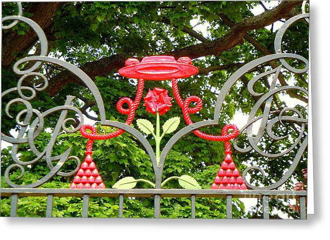 Church Founder Greeting Cards - The Cardinals Hat Greeting Card by Anne Gordon
