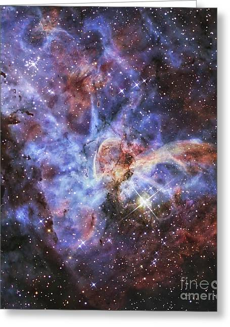 Colorful Cloud Formations Greeting Cards - The Carina Nebula, Also Known As Ngc Greeting Card by R Jay GaBany