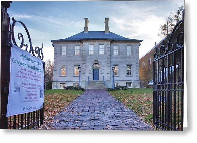 Old House Photographs Greeting Cards - The Carlyle House Greeting Card by Steven Ainsworth