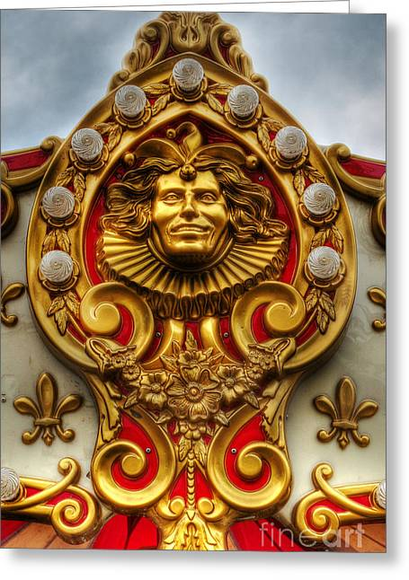 Rotate Greeting Cards - The Carnival Harlequin - County Fair - New Jersey Greeting Card by Lee Dos Santos