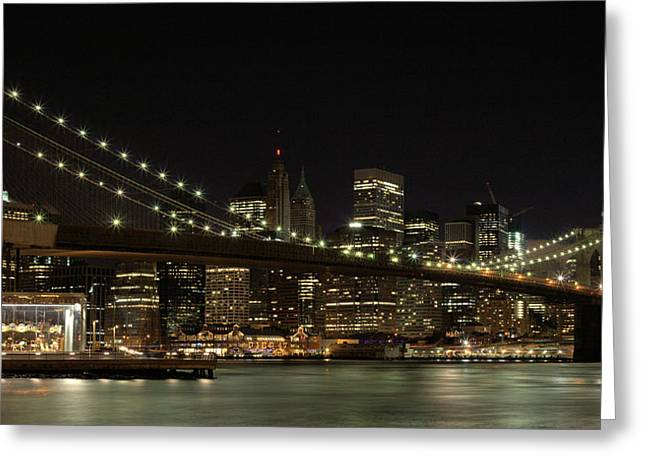 The City That Never Sleeps Greeting Cards - The Carousel  Greeting Card by JC Findley