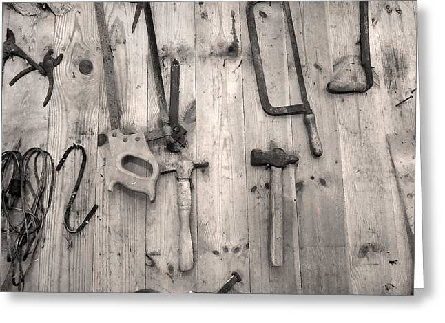 Carpenter Greeting Cards - The Carpenters Wall Greeting Card by Robert Lacy