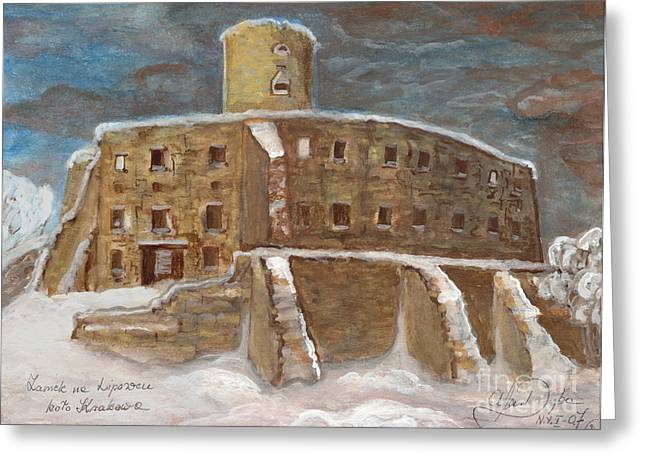 Anna Maciejewska-dyba Greeting Cards - The Castle Greeting Card by Anna Folkartanna Maciejewska-Dyba
