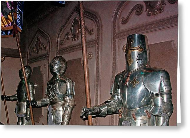 The Castle Guards Greeting Card by John Black