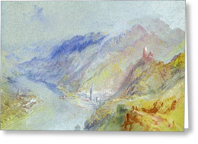 The Church Greeting Cards - The Castle of Trausnitz overlooking Landshut Greeting Card by Joseph Mallord William Turner