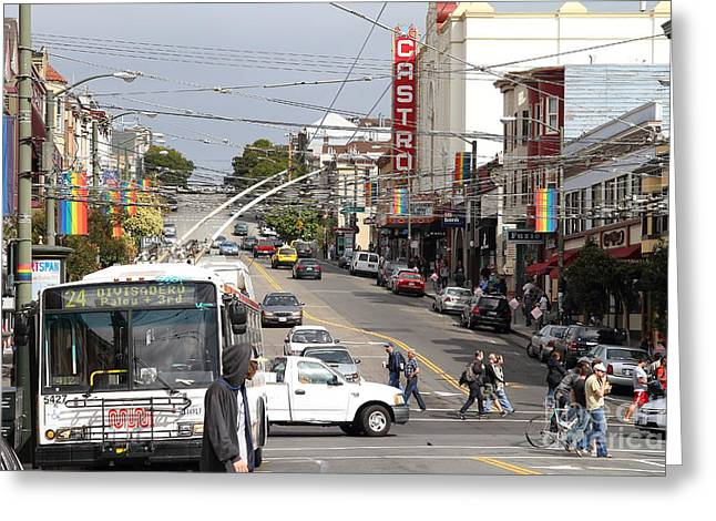 Eureka Valley Greeting Cards - The Castro District in San Francisco . 7D7573 Greeting Card by Wingsdomain Art and Photography