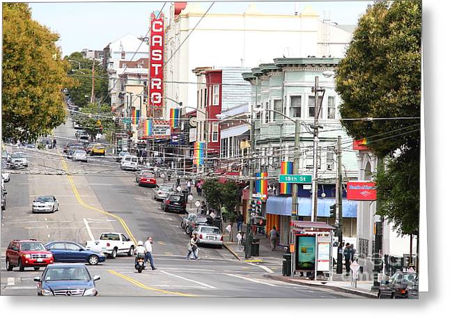Eureka Valley Greeting Cards - The Castro in San Francisco . 7D7567 Greeting Card by Wingsdomain Art and Photography