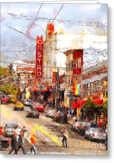 Castro Greeting Cards - The Castro in San Francisco . 7D7572 Greeting Card by Wingsdomain Art and Photography