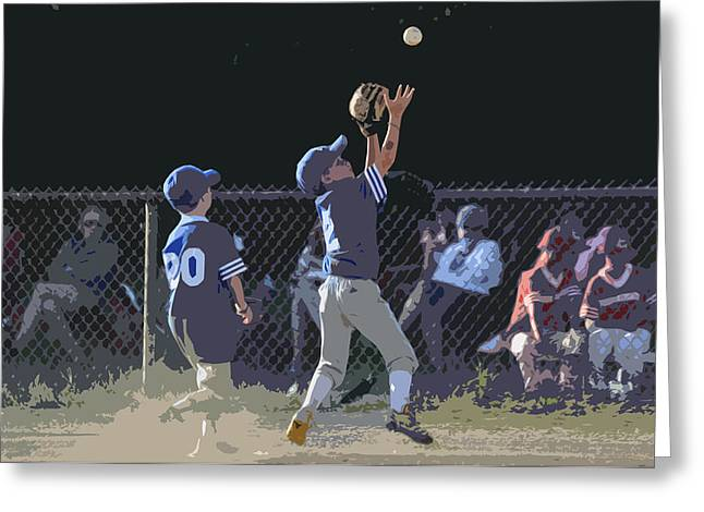 The Catch Greeting Card by Peter  McIntosh
