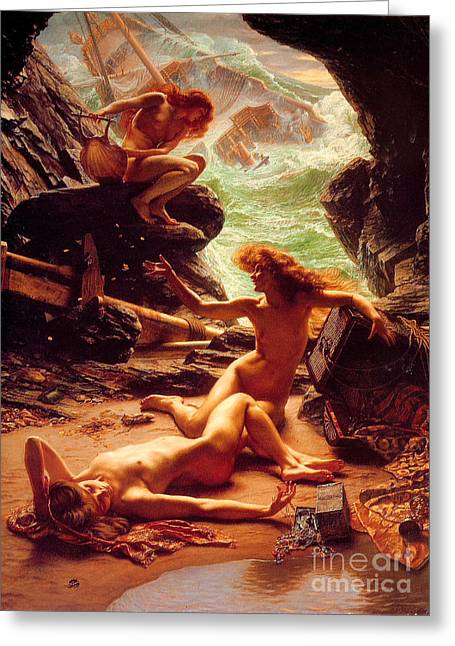 Poynter Greeting Cards - The Cave Of The Ninphs Greeting Card by Pg Reproductions