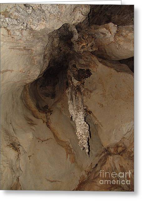 Caves Jewelry Greeting Cards - The Cave Top Point Greeting Card by John Johnson