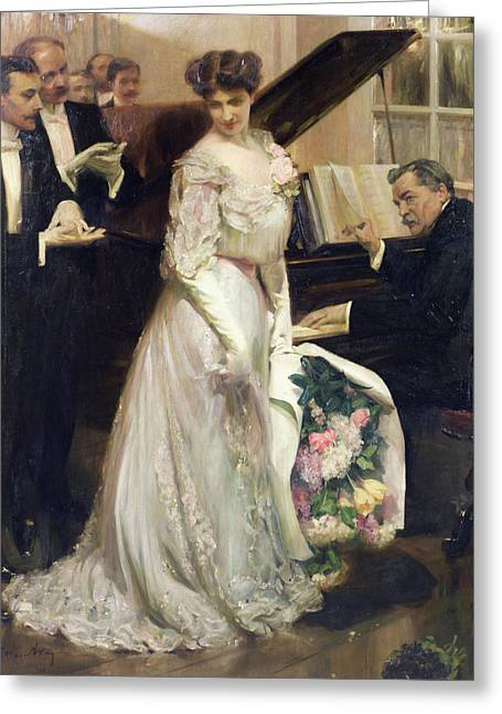 February Greeting Cards - The Celebrated Greeting Card by Joseph Marius Avy