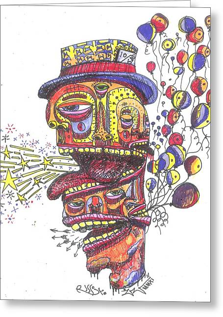 The Celebration Greeting Card by Robert Wolverton Jr