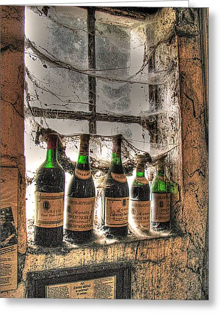 Stellenbosch Photographs Greeting Cards - The Cellar Window Greeting Card by William Fields