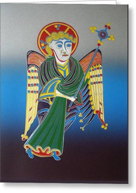 The Celtic Angel Greeting Card by Jarle Rosseland