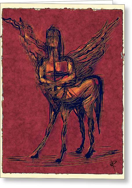 Centaur Greeting Cards - The Centaur Greeting Card by Russell Pierce