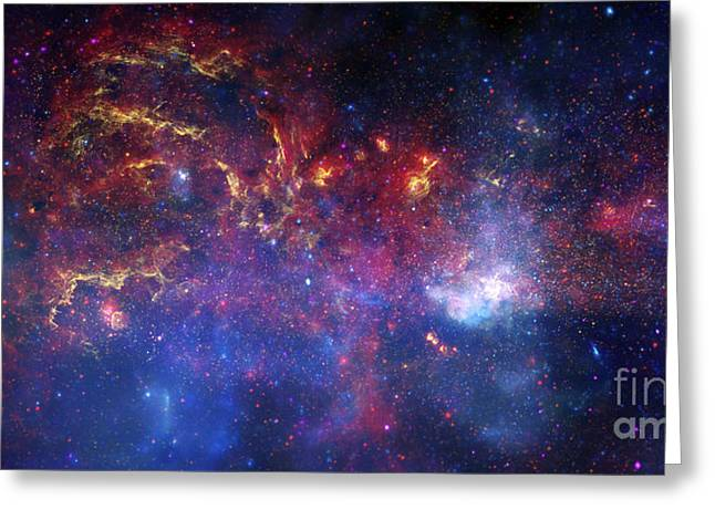 Neutron Greeting Cards - The Central Region Of The Milky Way Greeting Card by Stocktrek Images