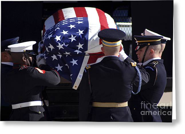 Air Force One Greeting Cards - The Ceremonial Honor Guard Places Greeting Card by Stocktrek Images