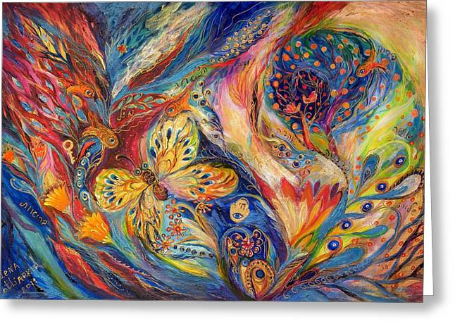 Kabbalistic Greeting Cards - The Chagall Dreams Greeting Card by Elena Kotliarker