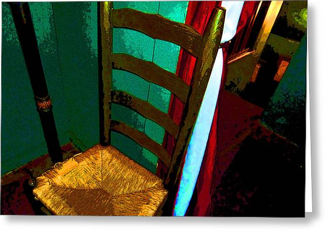 Ladderback Chair Greeting Cards - The Chair Greeting Card by Mindy Newman
